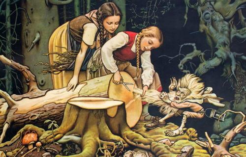 Сказка Беляночка и Розочка
