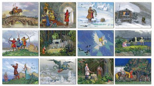 Коллаж русских народных сказок