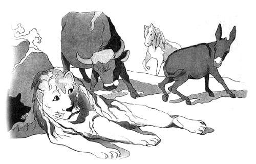 Крылов - Лев состаревшийся