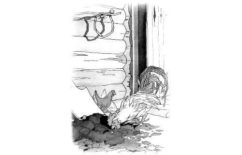 Крылов - Петух и Жемчужное зерно