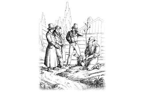 Крылов - Старик и трое молодых