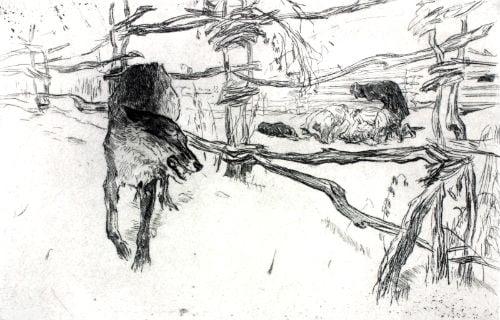 Иллюстрация к Басне Волк и Пастухи